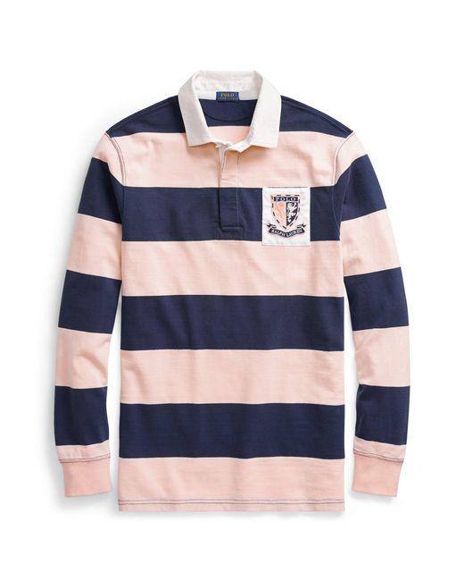 Ralph Lauren - Blue Pink Pony Jersey Rugby Shirt - Lyst
