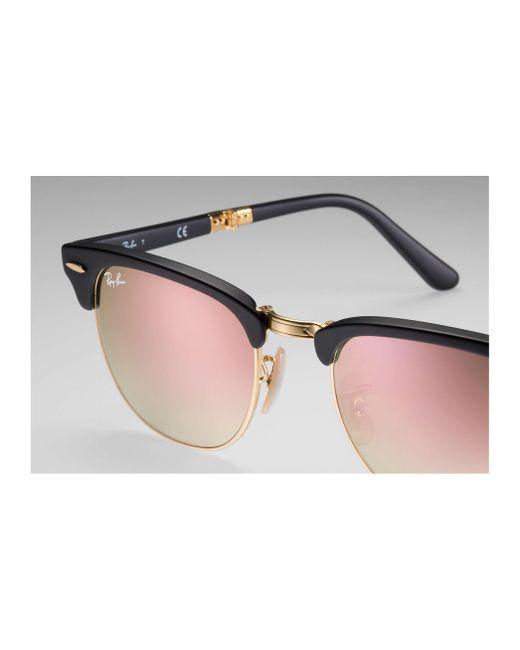 c4cd87773384d ... sunglasses a5388 5808b  amazon ray ban black clubmaster folding flash  lenses gradient for men lyst 002df b1c55