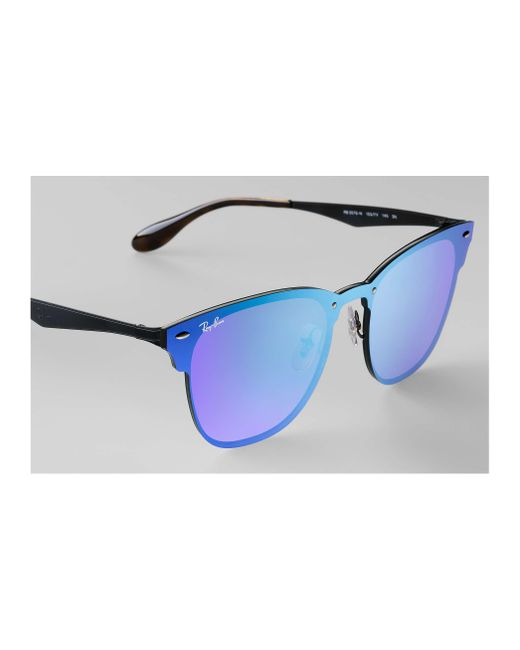 c2fa27d0f8e ... Ray-Ban - Blue Blaze Clubmaster for Men - Lyst ...