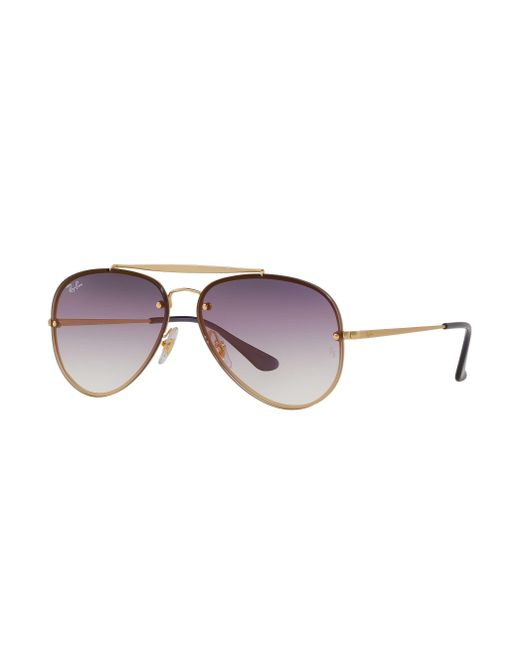 28cd321f3ec Ray-Ban Blaze Aviator in Purple for Men - Save 10% - Lyst