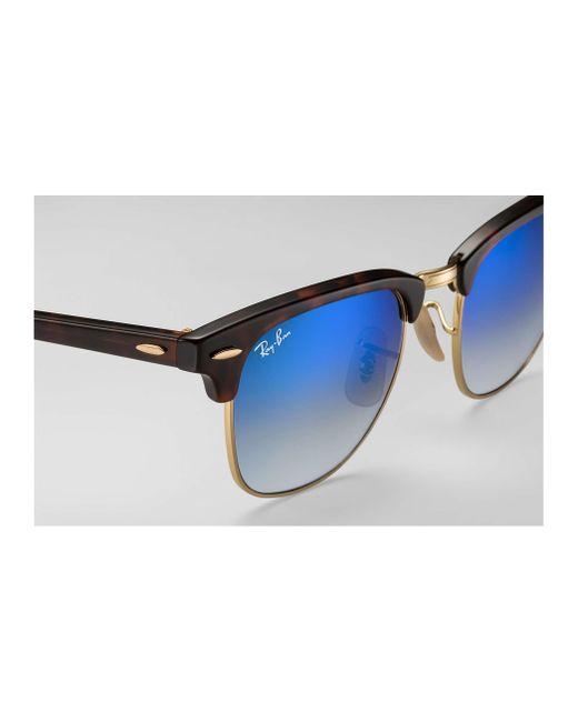 dd9b21b1c6ebf ... coupon code for ray ban blue clubmaster flash lenses gradient lyst  79092 ef0b7
