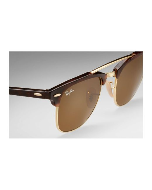 782f5945006 ... Ray-Ban - Brown Clubmaster Double Bridge for Men - Lyst ...
