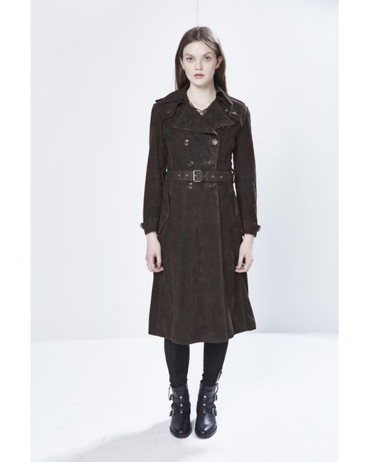 Rebecca minkoff Amis Coat in Brown | Lyst