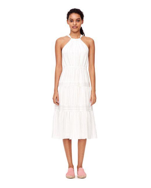 Rebecca Taylor | White Sleeveless Yarn Dyed Stripe Dress | Lyst