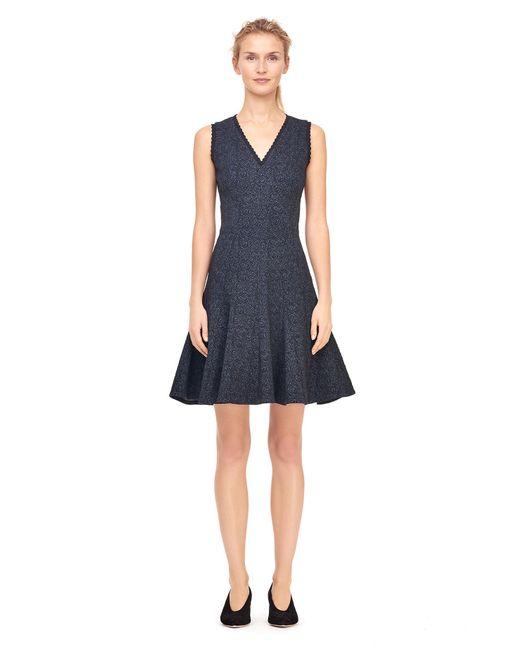 Rebecca Taylor | Blue Rose Stretch Jacquard Dress | Lyst