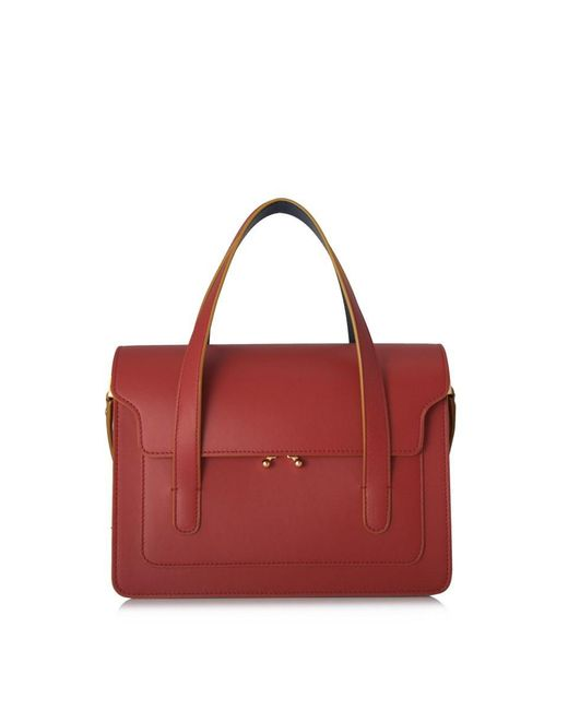 4cc68543a5c Marni - Red Trunk Bag With Shoulder Strap - Lyst ...