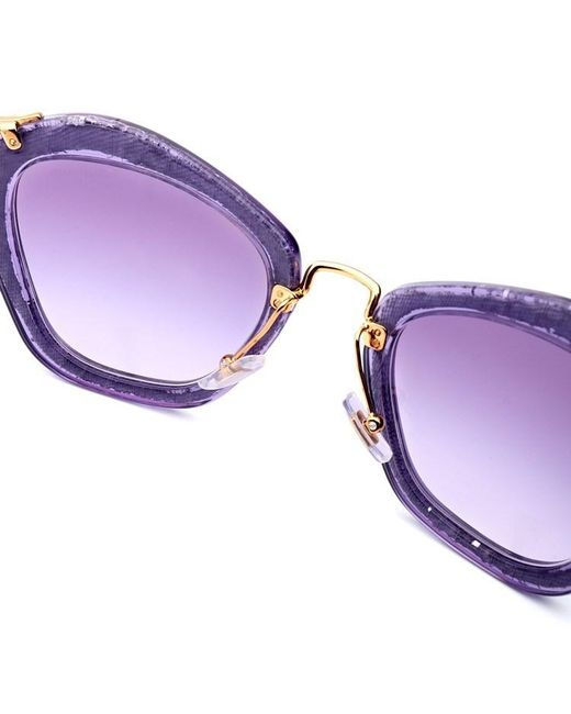 1ce56c5eaa Lyst - Miu Miu Women s Sunglasses Light Purple ( mm10ns4w1) in Purple