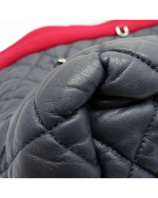 29f3b45fe7fe19 ... Chanel - Matelasse Cc Coco Cocoon Tote Bag Lambskin Canvas Blue Red  0910 - Lyst ...