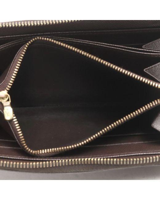 half off 51530 564af Louis Vuitton Auth Zippy Around Wallet Purse N60015 Damier ...