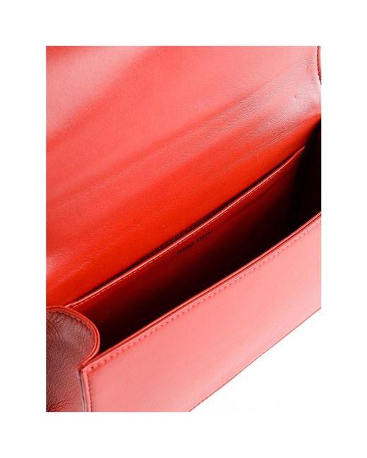 6a3bcf9419f5 Lyst - Miu Miu Pochettes   Clutches 68z Fuoco in Red