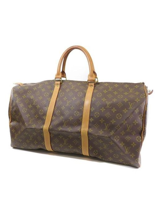 Lyst - Louis Vuitton Monogram Canvas Boston Bag M41424 Keepall 55 in ... f4c55a48b5008