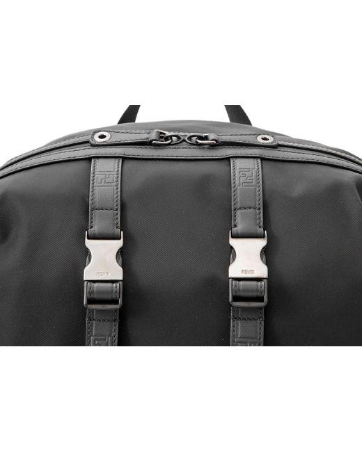 8556e5facf9a Lyst - Fendi Santander Nylon Backpack in Black for Men - Save 1%