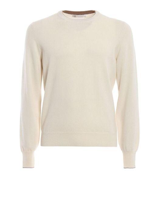 2dd217326b Brunello Cucinelli - Men s M2200100cw050 White Wool Sweater for Men - Lyst  ...