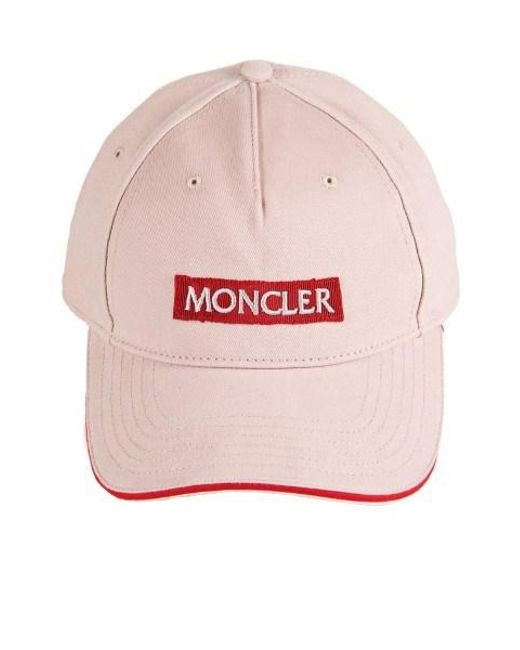 Pink Logo Cap Moncler fLEo3xN