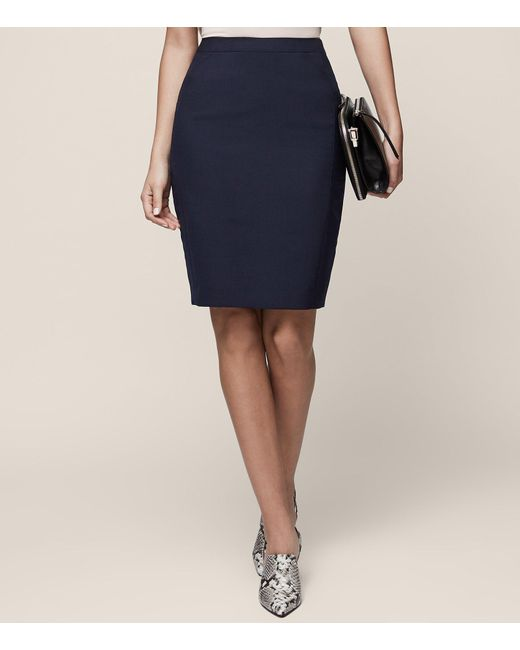 Reiss - Blue Faulkner Skirt - Lyst