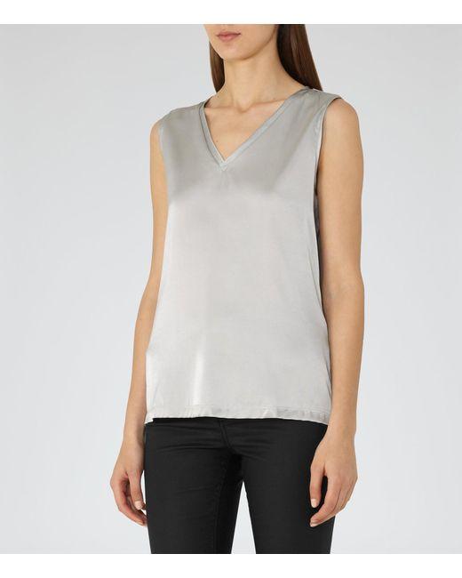Reiss | Metallic Fi-silk Front Vest | Lyst