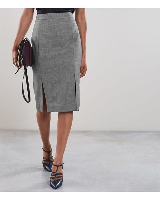 a3da8a2a18 ... Reiss - Gray Alber Skirt - Tailored Pencil Skirt - Lyst ...