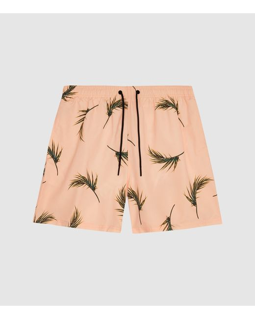 f2ce2bcc45 ... Reiss - Pink Palmer - Floral-printed Swim Shorts for Men - Lyst ...