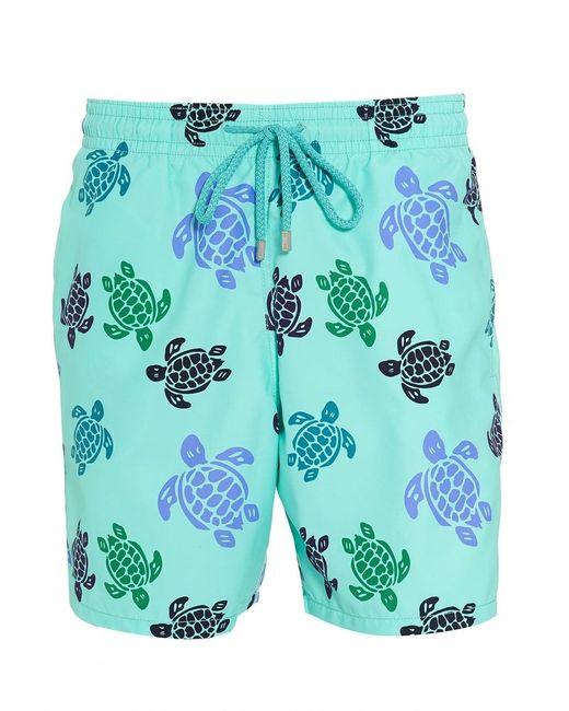 Vilebrequin | Moorea Swim Shorts, Blue Large Turtle Print Swimming Trunks for Men | Lyst