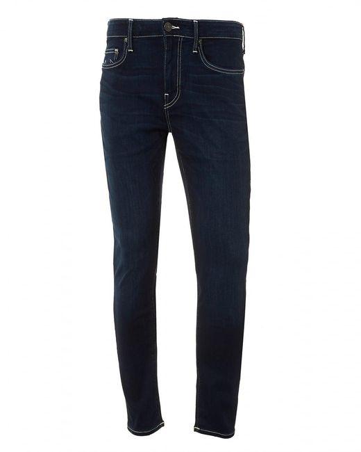 True Religion | Blue Jack Runner Jeans, White Stitching Dark Ink Denim for Men | Lyst