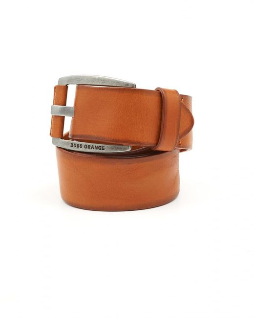 BOSS Orange | Brown Bakaba-n Vintage Look Tan Belt for Men | Lyst