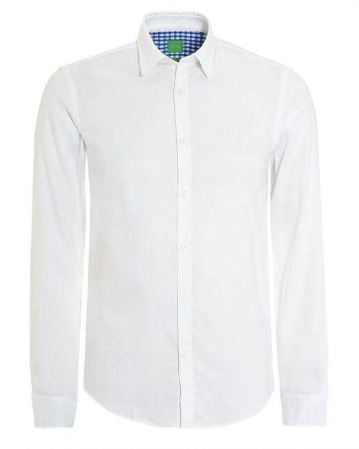 BOSS Athleisure - C-buster Shirt, Regular Fit Fine Dot White Shirt for Men - Lyst