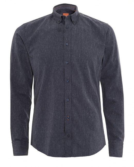 BOSS by Hugo Boss - Edipoe Shirt, Denim Blue Slim Fit Shirt for Men - Lyst
