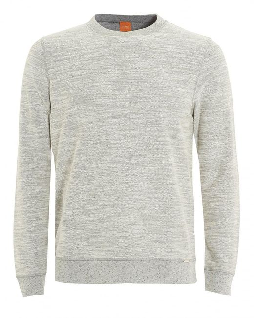 BOSS by Hugo Boss - Gray Woice Jumper, Natural Grey Reversible Sweater for Men - Lyst