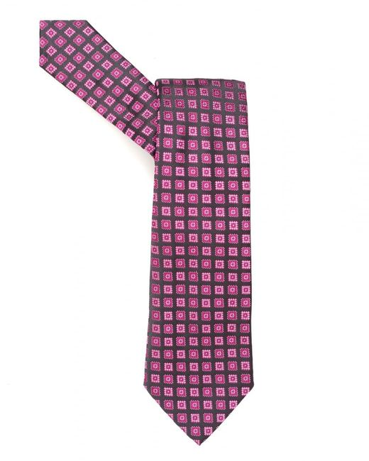 Armani - Tie, Small Squares Silk Pink Tie for Men - Lyst
