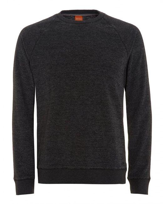BOSS by Hugo Boss - Willie Jumper, Marl Black Sweatshirt for Men - Lyst