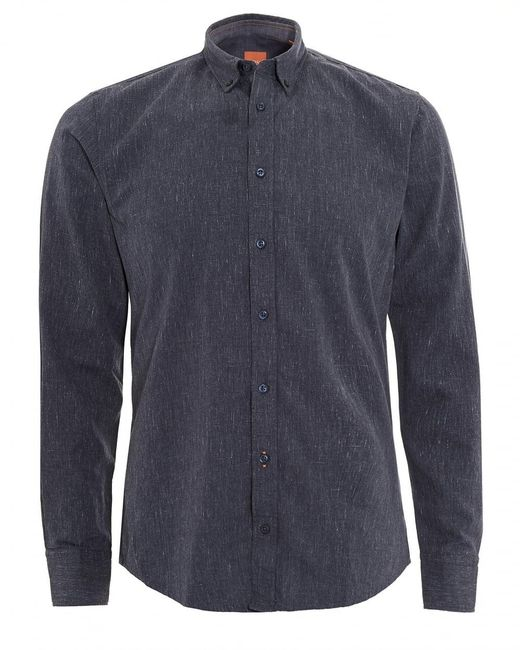BOSS - Edipoe Shirt, Denim Blue Slim Fit Shirt for Men - Lyst