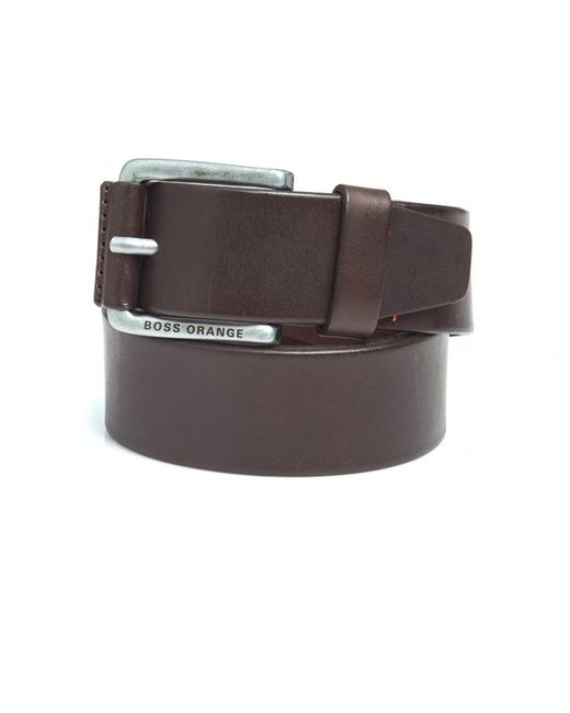 BOSS by Hugo Boss - Jakab Brown Smooth Leather Belt for Men - Lyst