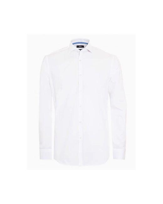 BOSS - Jery Shirt, Slim Fit Business Plain White Shirt for Men - Lyst