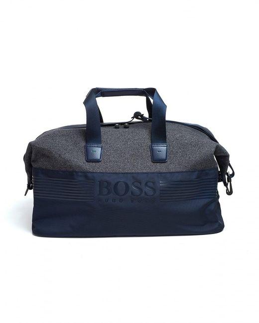 BOSS Athleisure - Pixel M_holdall Bag, Nylon Navy Blue Gymbag for Men - Lyst