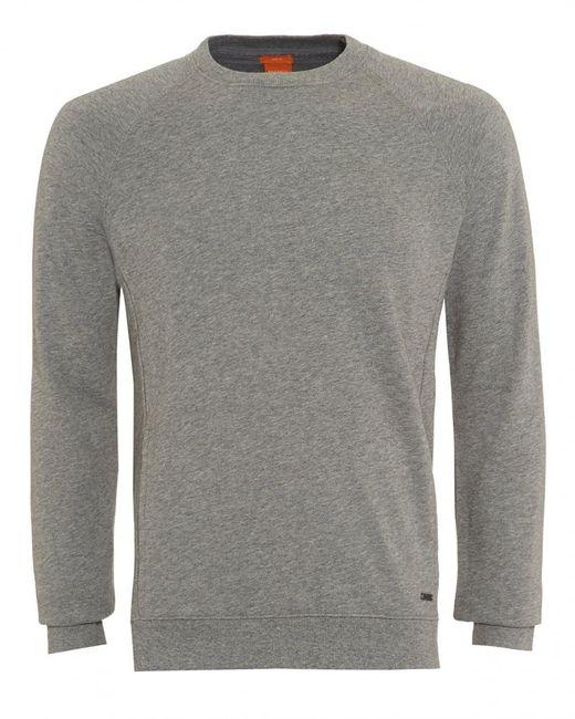 BOSS - Gray Sweater, Wheel Slim Fit Grey Track Top for Men - Lyst