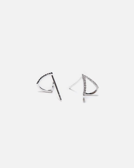 EF Collection | Multicolor Diamond Huggie Earrings | Lyst