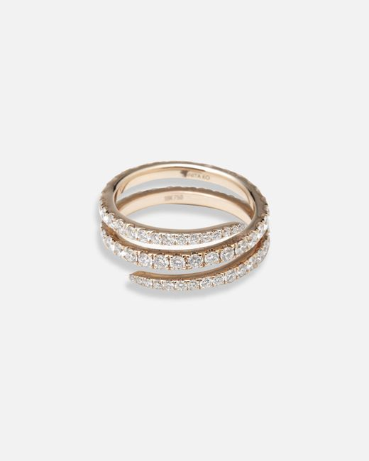 Anita Ko - Metallic Diamond Coil Ring - Lyst