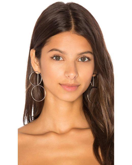 Joolz by Martha Calvo | Metallic Double Hoop Ear Jacket | Lyst