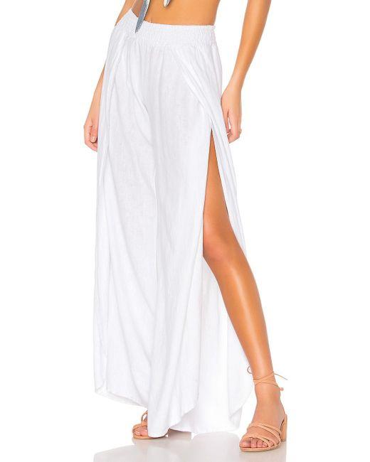 Bobi - Seaside Linen Pants In White - Lyst