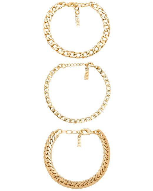 Natalie B. Jewelry - Metallic Tre Catena Bracelet - Lyst