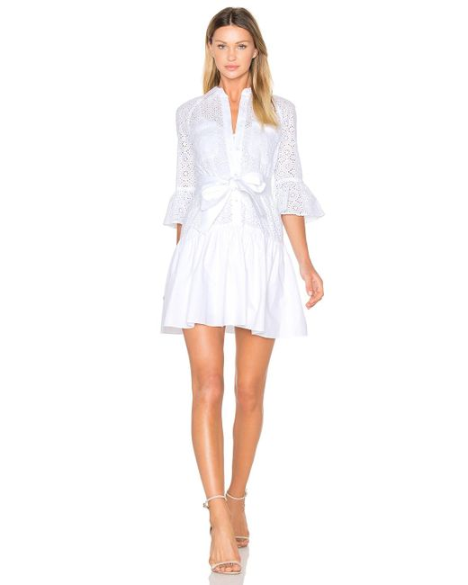 10 crosby derek lam button down ruffled hem shirt dress in for Derek lam 10 crosby shirt dress