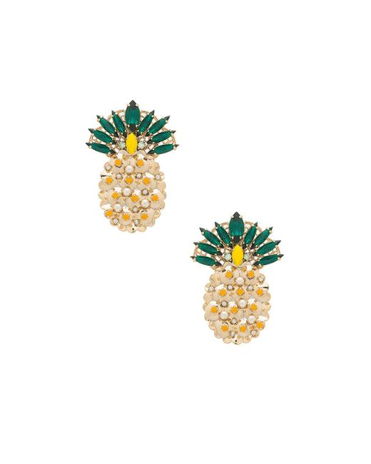 Anton Heunis | Metallic Pineapple Earring | Lyst