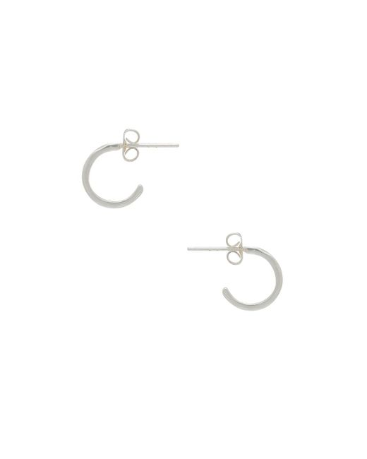 Gorjana - Tanner Mini Hoop Earrings In Metallic Silver. - Lyst