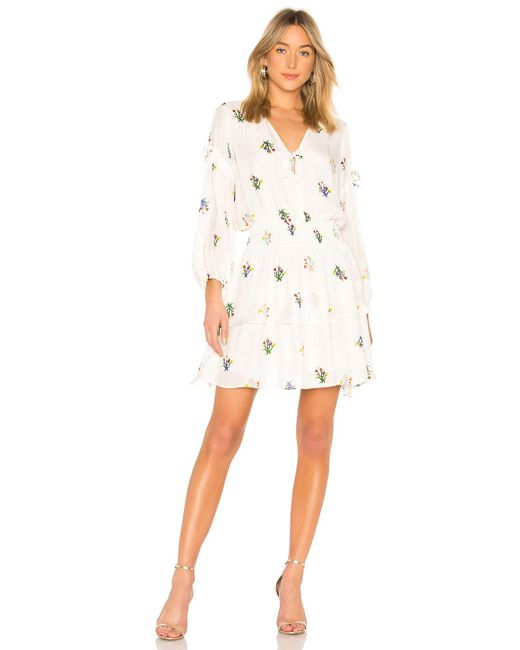 Cynthia Rowley - White Celia Smocked Mini Dress - Lyst
