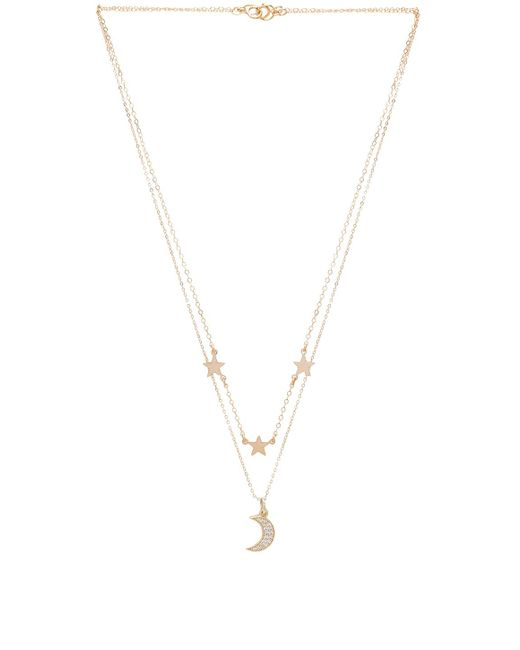 Mimi & Lu - Metallic Mina Necklace - Lyst