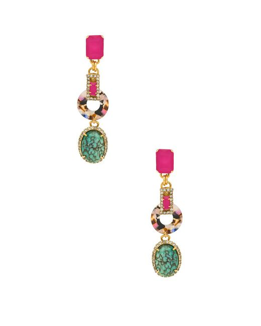 Elizabeth Cole - Metallic Tamra Earrings - Lyst