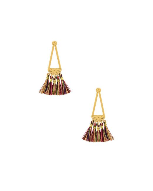 Rebecca Minkoff | Metallic Geo Tassel Earrings | Lyst