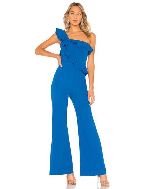 Rebecca Vallance - Blue Caspian One Shoulder Jumpsuit - Lyst