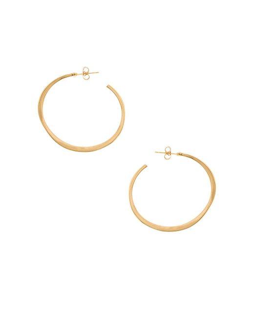 Gorjana - Arc Large Hoop Earrings In Metallic Gold. - Lyst