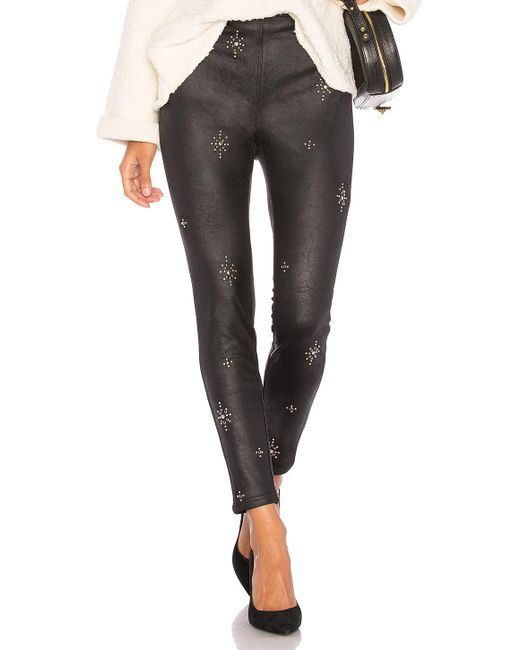 Free People | Black Embellished Vegan Skinny Pant | Lyst